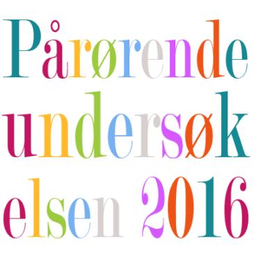 TA Pårørendeundersøkelsen 2016!